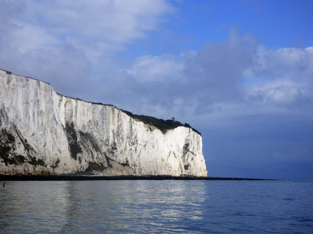 white cliffs of dover from the sea