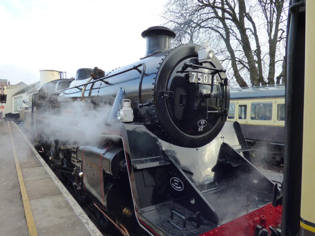steam train travel Devon